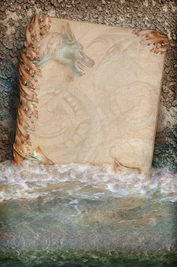 Libro místico del dragón imágenes de archivo libres de regalías