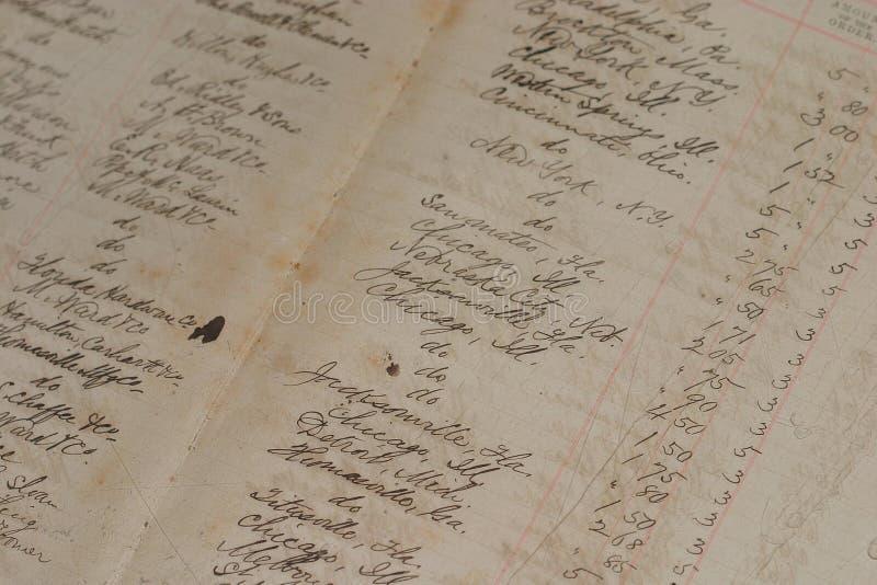 Libro mayor viejo imagen de archivo libre de regalías