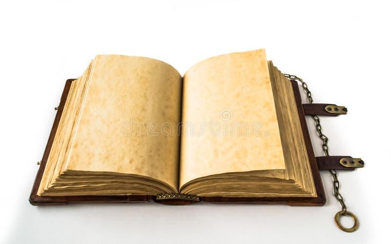 Libro medievale con la catena fotografie stock