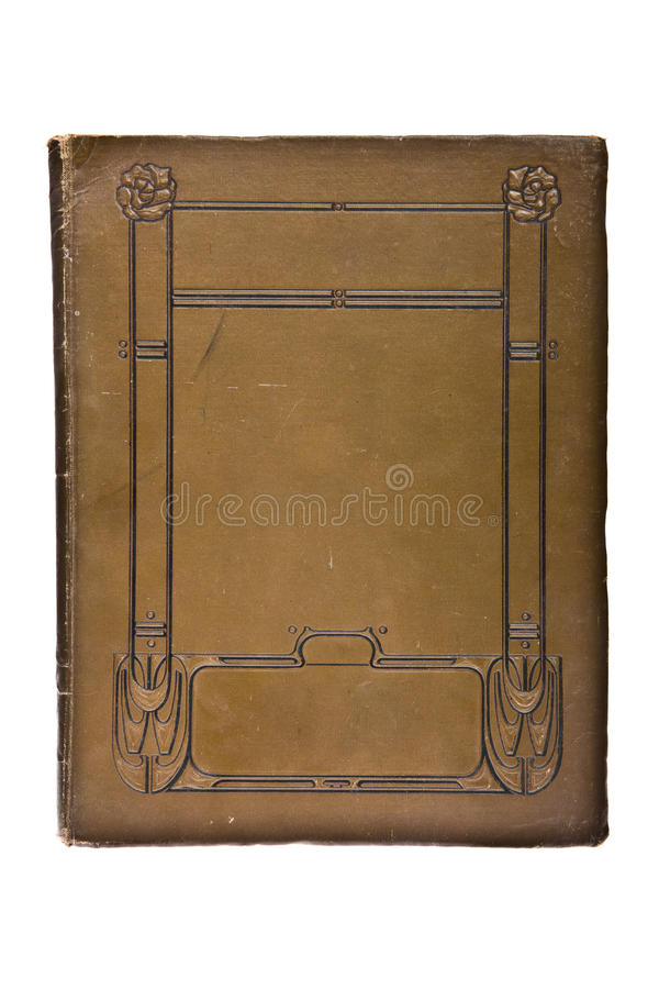 Libro molto vecchio del coperchio (1880's) fotografia stock
