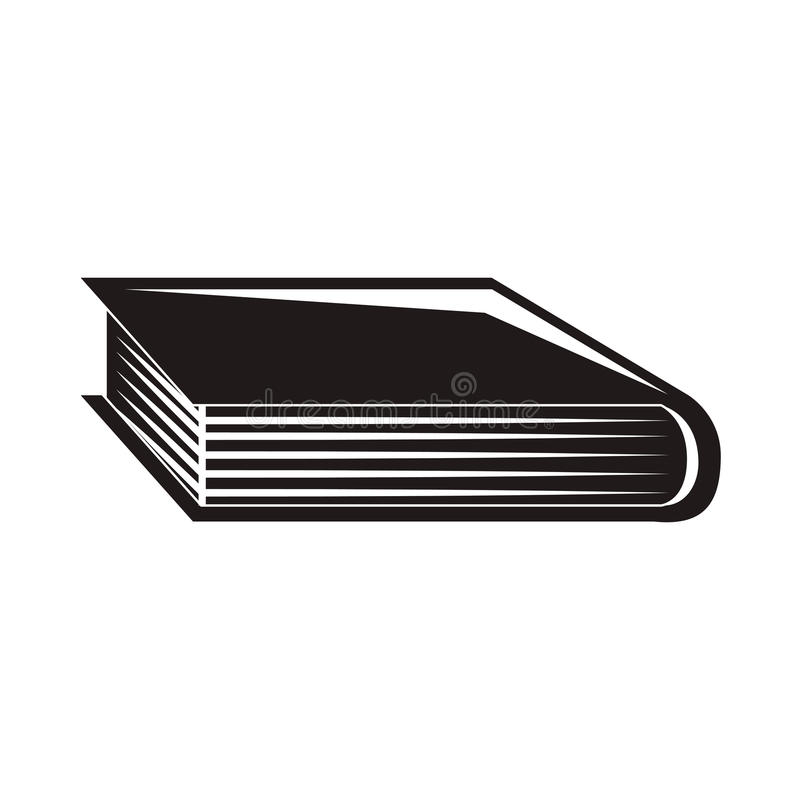 Libro negro de la silueta con la cubierta libre illustration