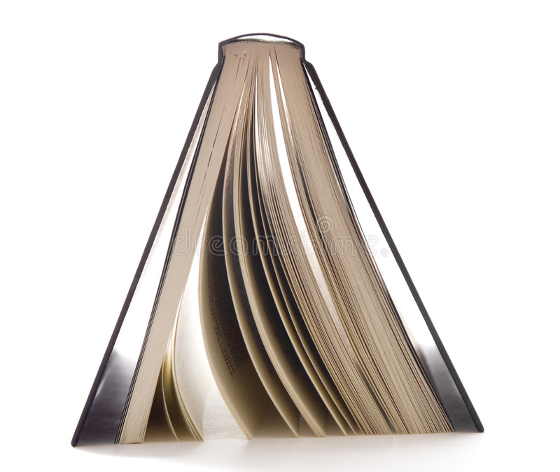 Libro negro upside-down fotografía de archivo libre de regalías