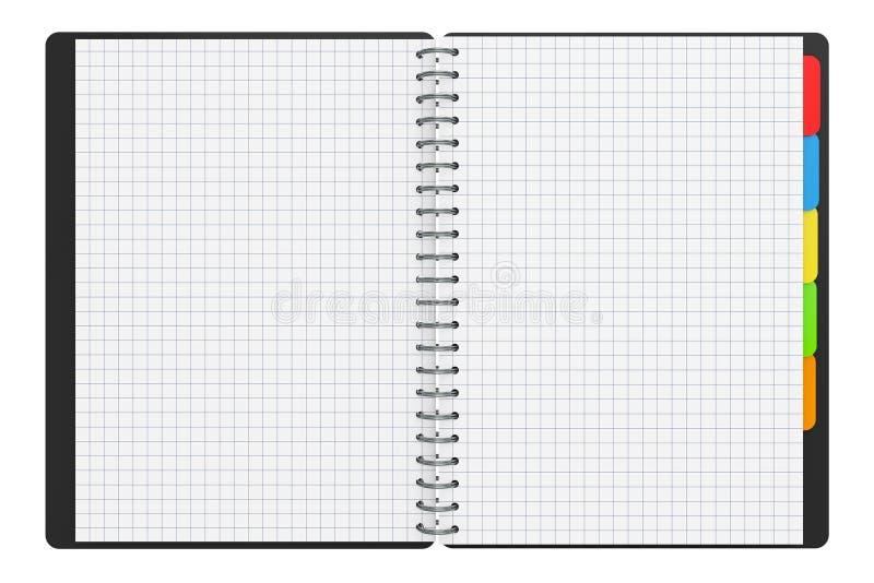 Libro personal del diario o del organizador con las páginas en blanco representación 3d libre illustration