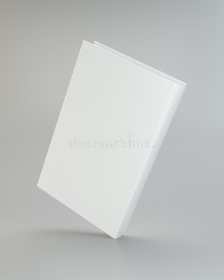 Libro realista blanco en fondo gris representación 3d libre illustration