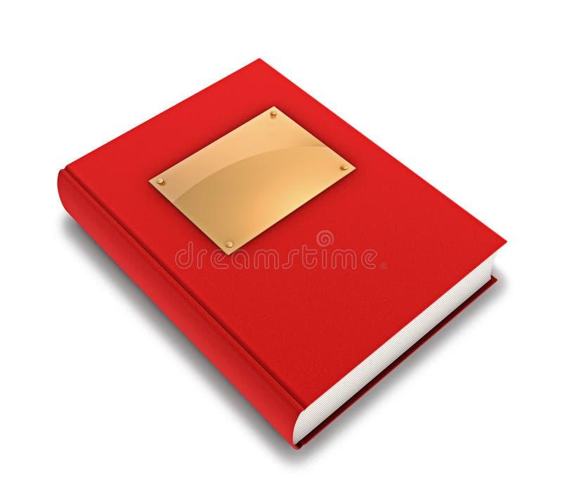 Libro rojo ilustración del vector