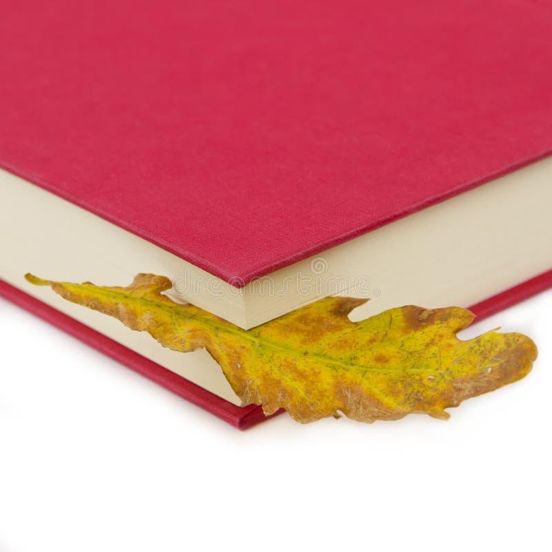 Libro rojo con una dirección de la Internet de la hoja imagenes de archivo