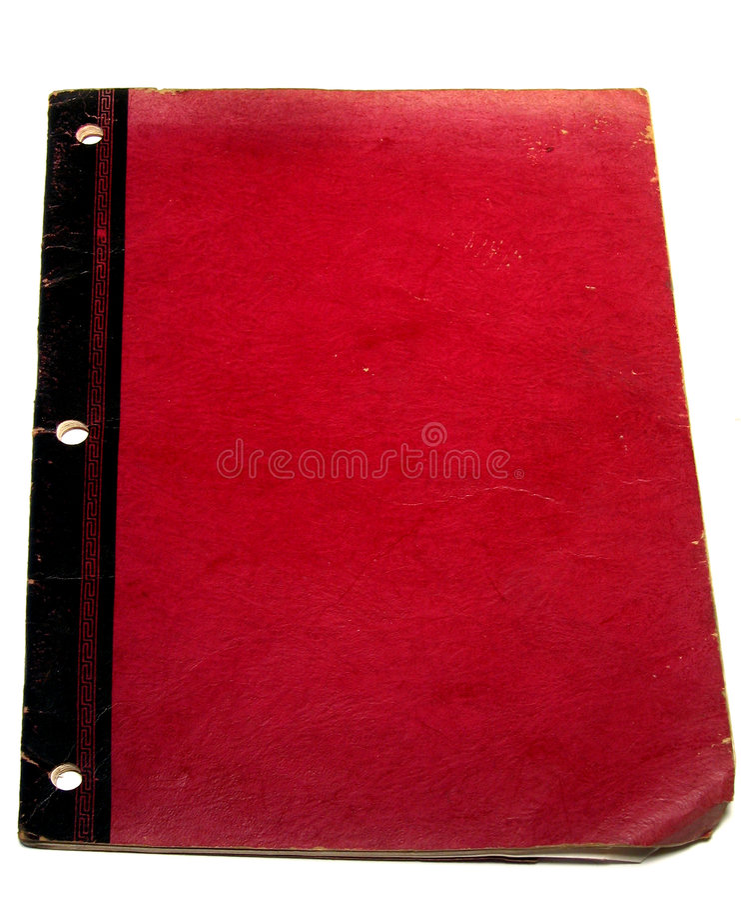 Libro rojo viejo imagen de archivo
