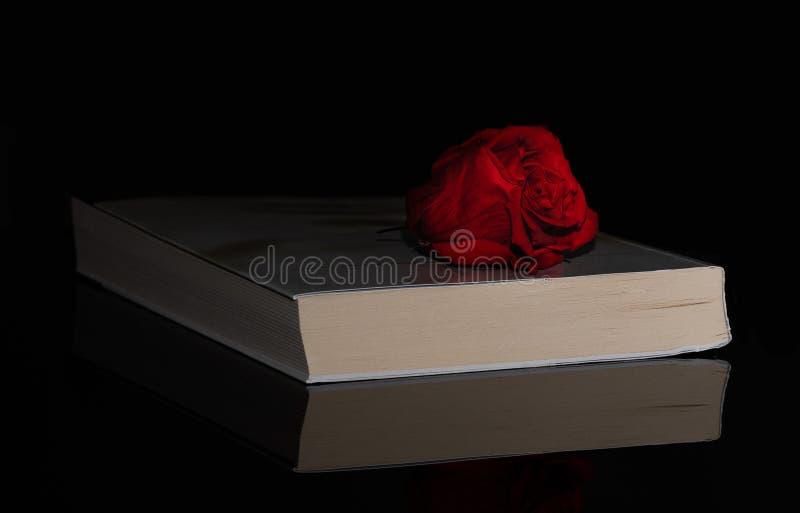 Libro Rose cerrado cara luz reflexión negro fotografía de archivo