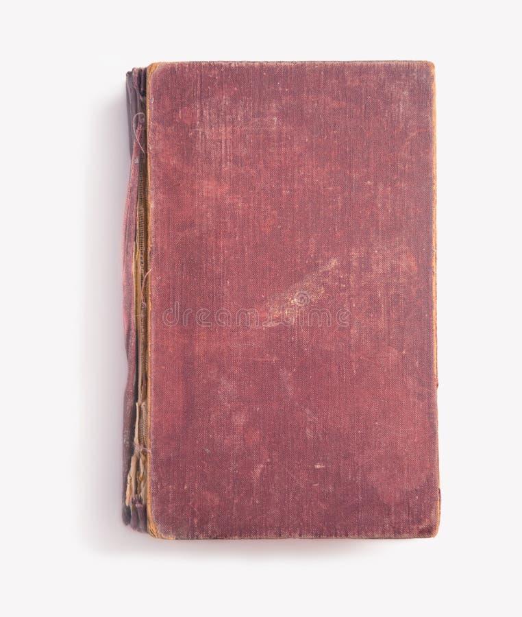 Libro rosso d'annata, copyspace fotografia stock