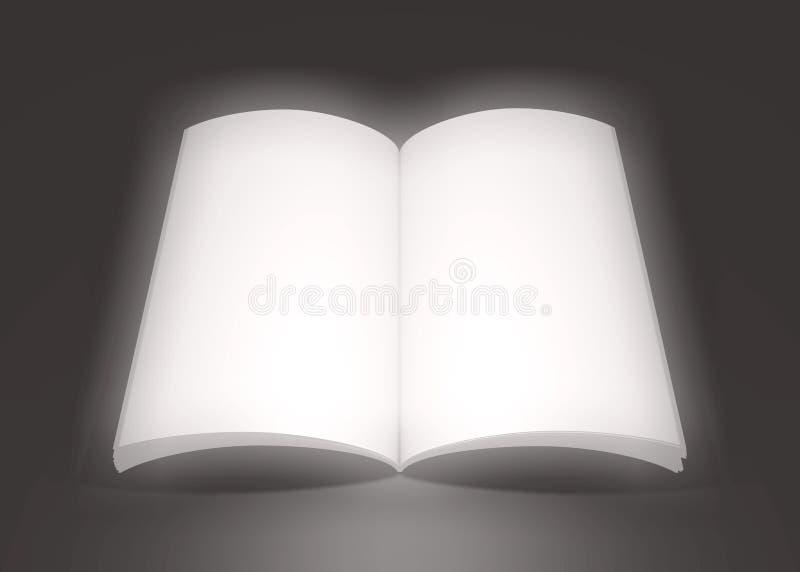 Libro soñador grande ilustración del vector