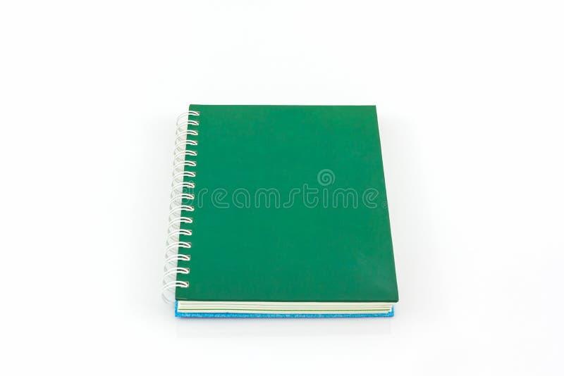 Libro verde del diario fotografia stock libera da diritti