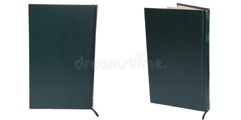 Libro verde en el fondo blanco aislado foto de archivo