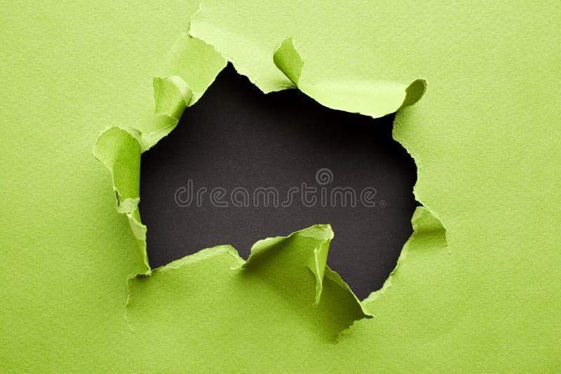 Libro Verde rasgado foto de archivo