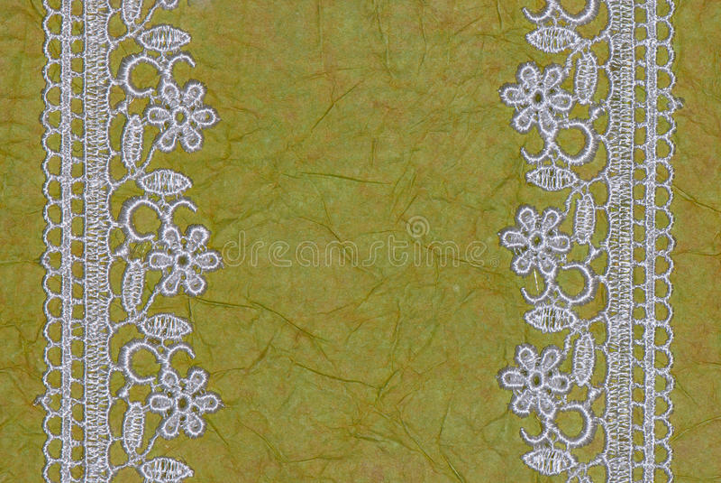 Libro Verde y cordón. fondo imagenes de archivo