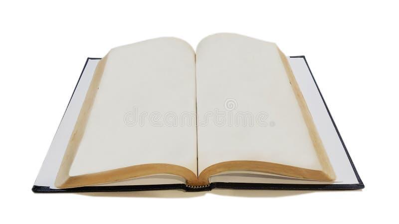 Libro viejo abierto para el expediente fotografía de archivo