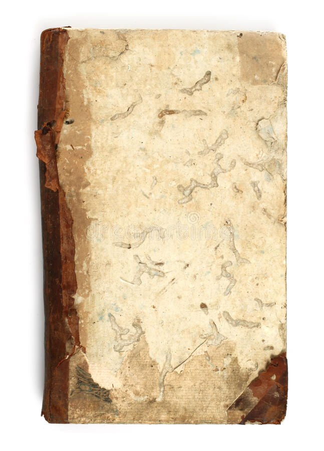 Libro viejo comido por el ratón de biblioteca imagen de archivo