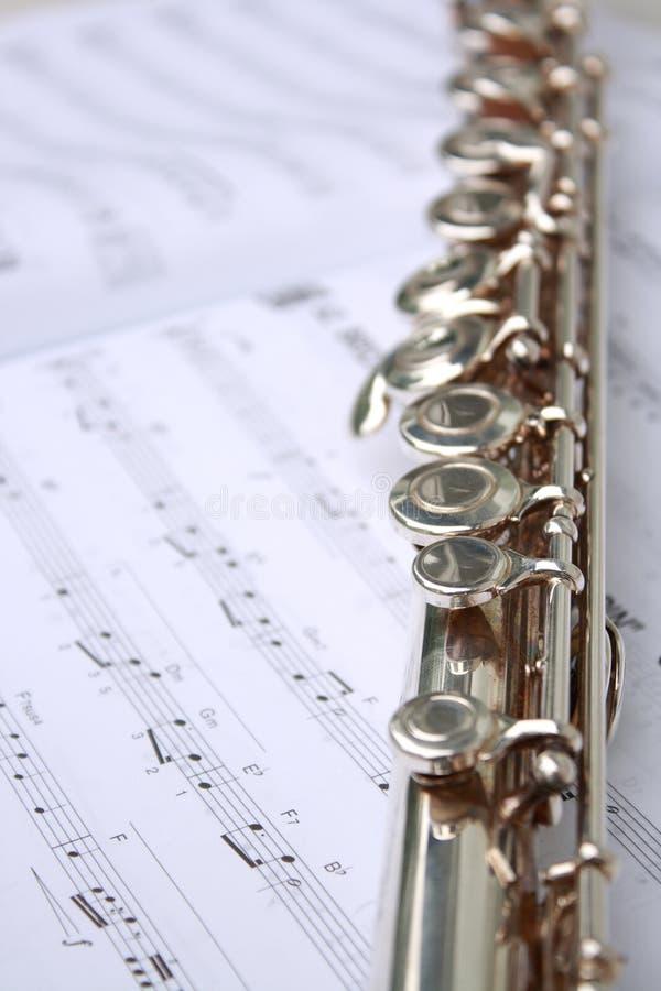 Libro y flauta de música fotografía de archivo