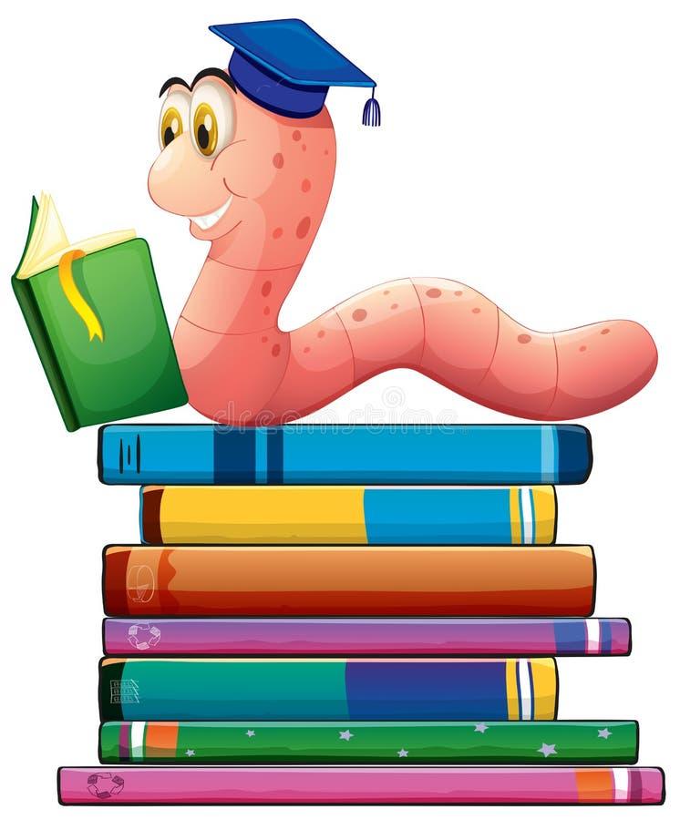 Libro y gusano libre illustration