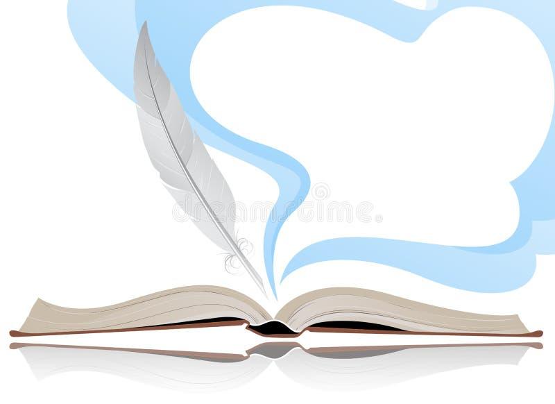 Libro y pluma libre illustration