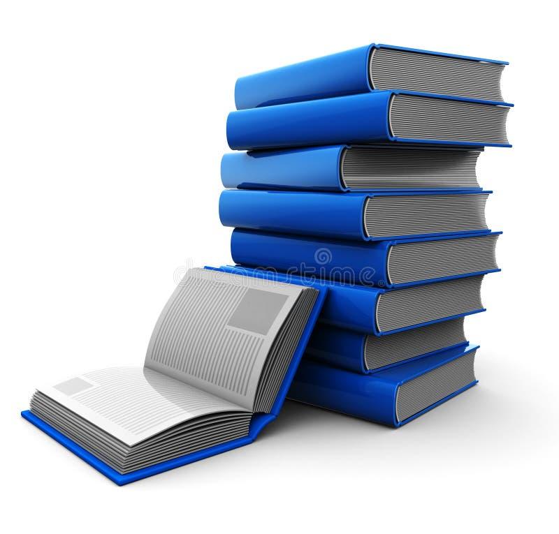 Libros azules ilustración del vector