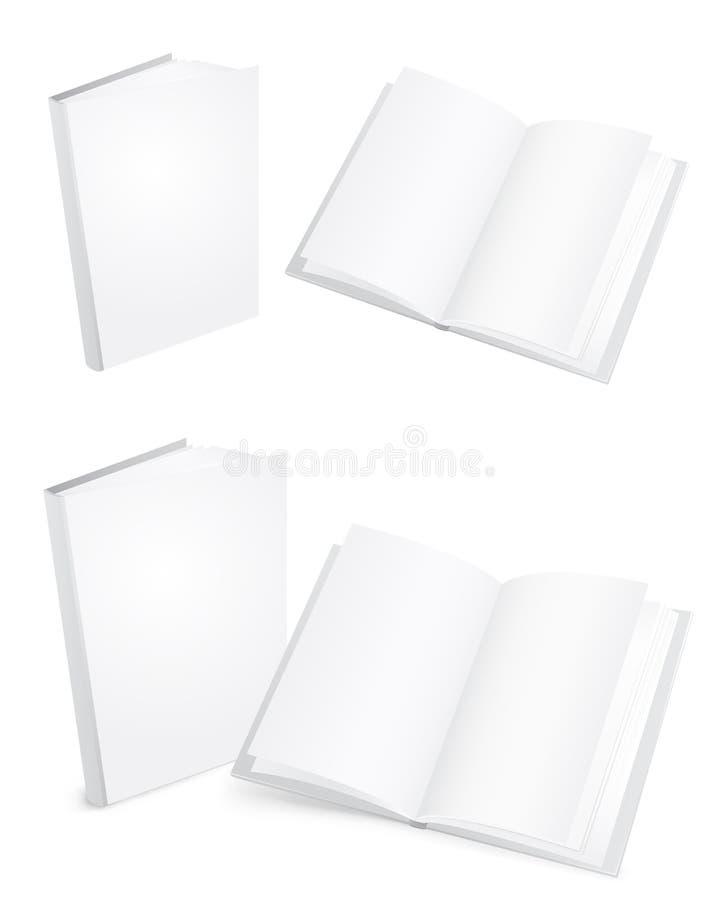 Libros blancos stock de ilustración