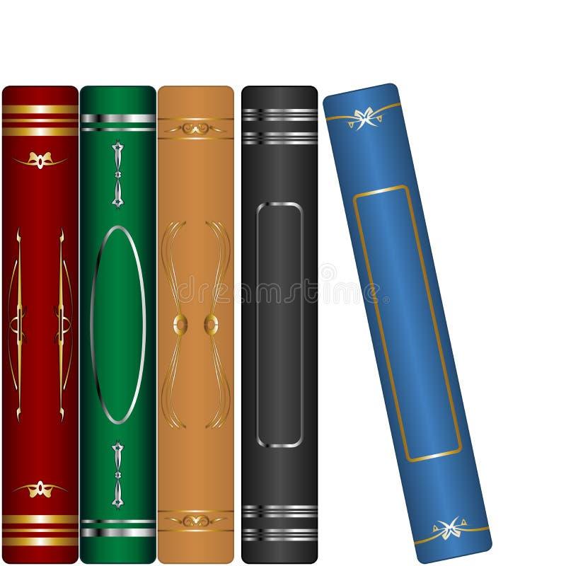 Libros clásicos fijados stock de ilustración