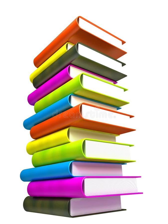 Libros coloreados masivos imagen de archivo libre de regalías