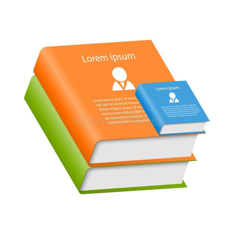 Libros coloreados multi stock de ilustración