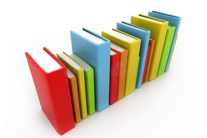 Libros coloridos ilustración del vector