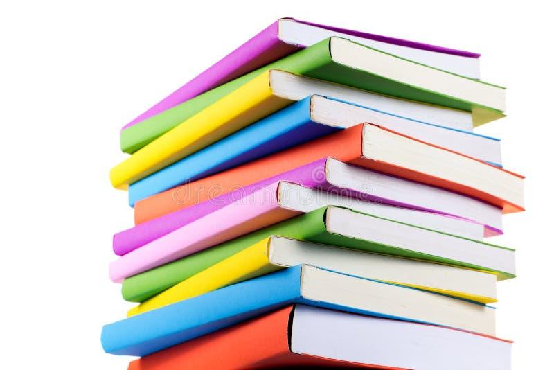 Libros coloridos aislados foto de archivo. Imagen de espacio - 26611402