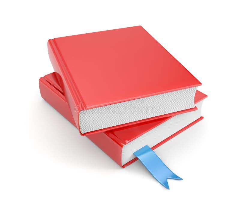 Libros con la señal ilustración del vector