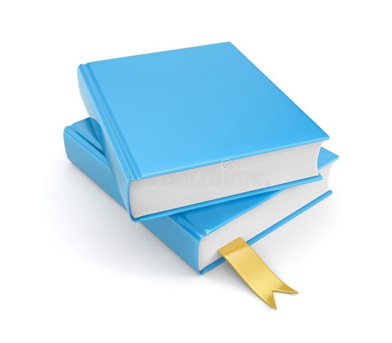 Libros con la señal stock de ilustración