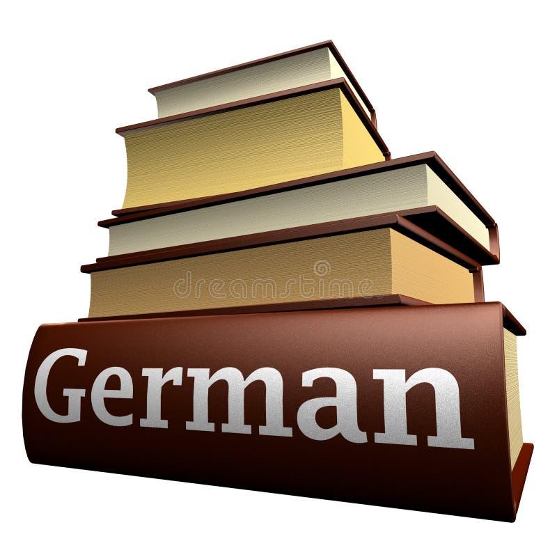 Libros de la educación - alemán libre illustration
