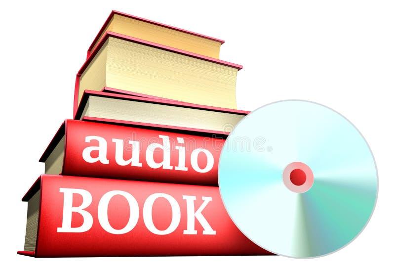 Libros de la educación - libro audio ilustración del vector