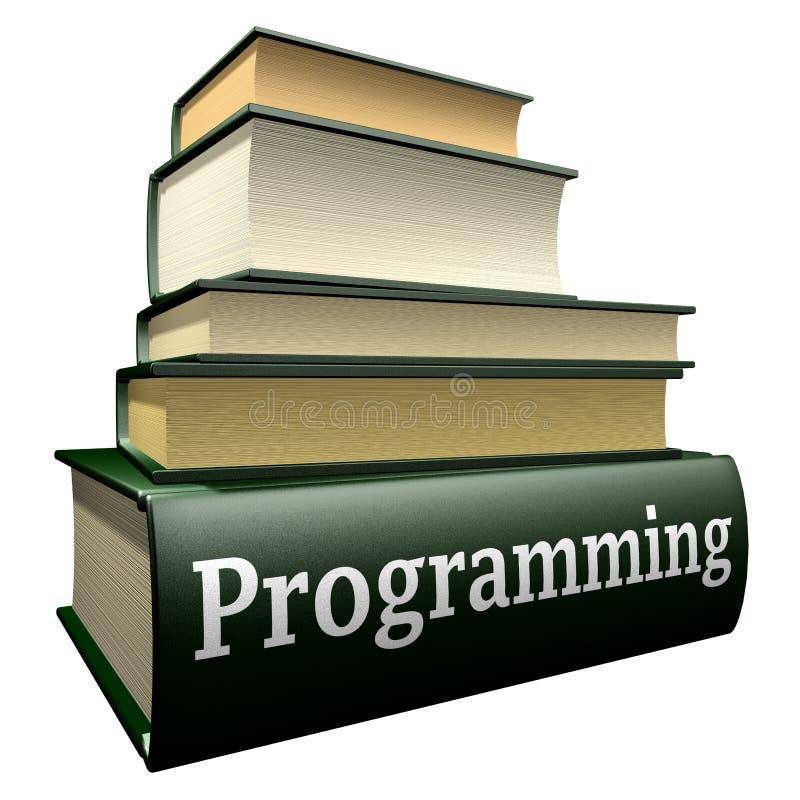 Libros de la educación - programando ilustración del vector