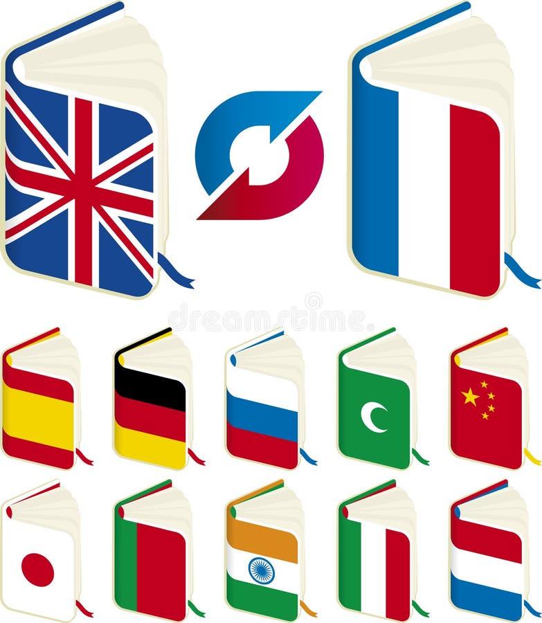 Libros de la traducción stock de ilustración