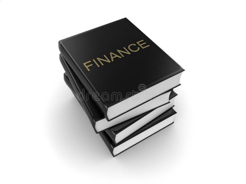 Libros de las finanzas ilustración del vector