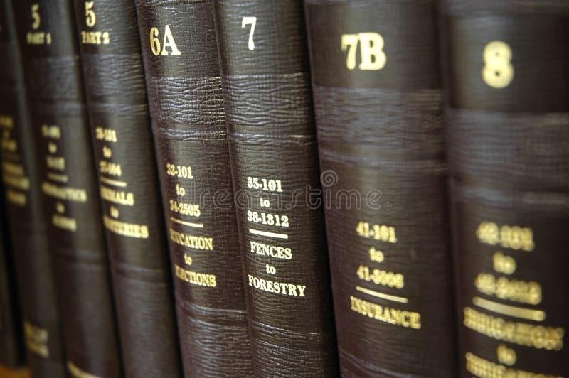 Libros de ley imagen de archivo libre de regalías