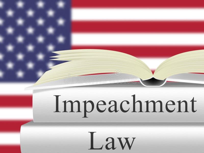 Libros de ley de la acusación para quitar a presidente corrupto Or Politician stock de ilustración
