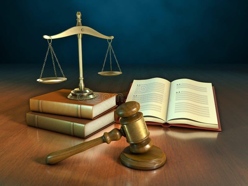 Libros de ley y mazo libre illustration