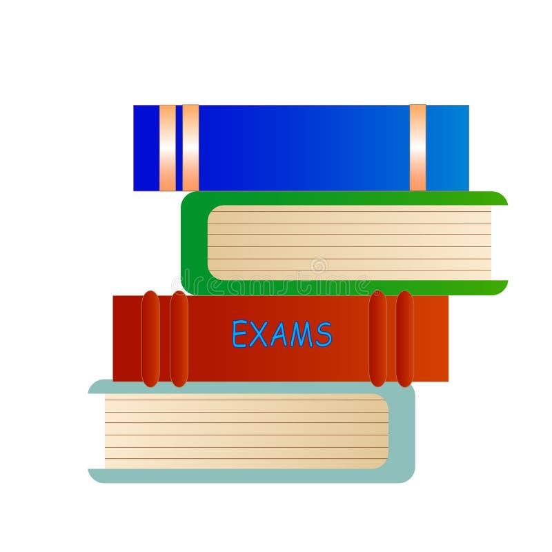 Libros de los exámenes stock de ilustración