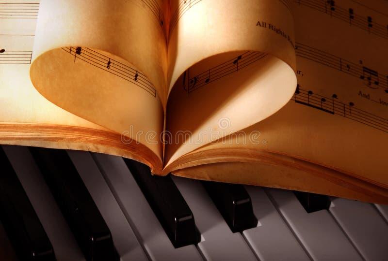 Libros de música antiguos imagen de archivo