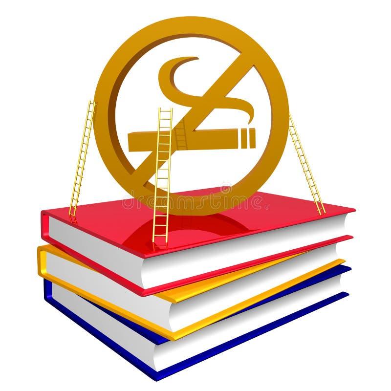Libros de oro acerca de cómo parar el fumar del icono libre illustration