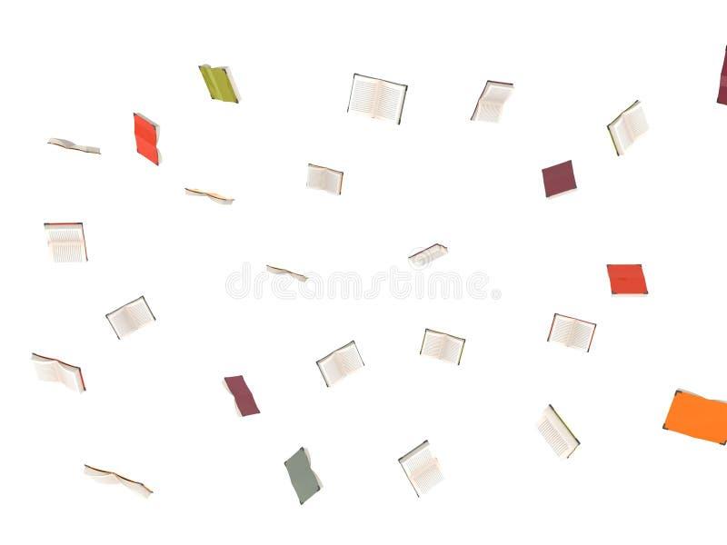 Libros de vuelo tridimensionales ilustración del vector