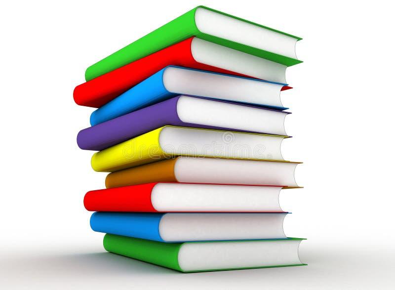 Libros del color stock de ilustración