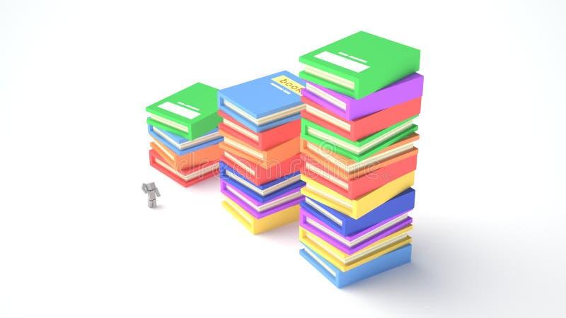 Libros del color y muchacho cúbico fotos de archivo libres de regalías