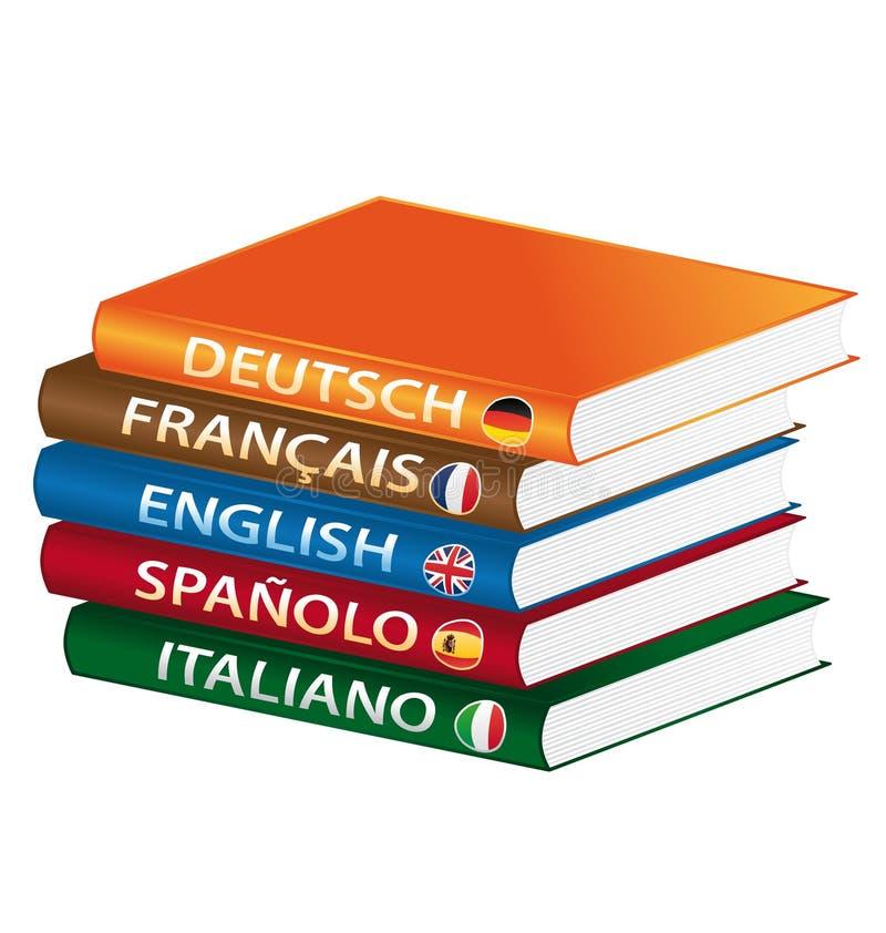 Libros del lenguaje ilustración del vector
