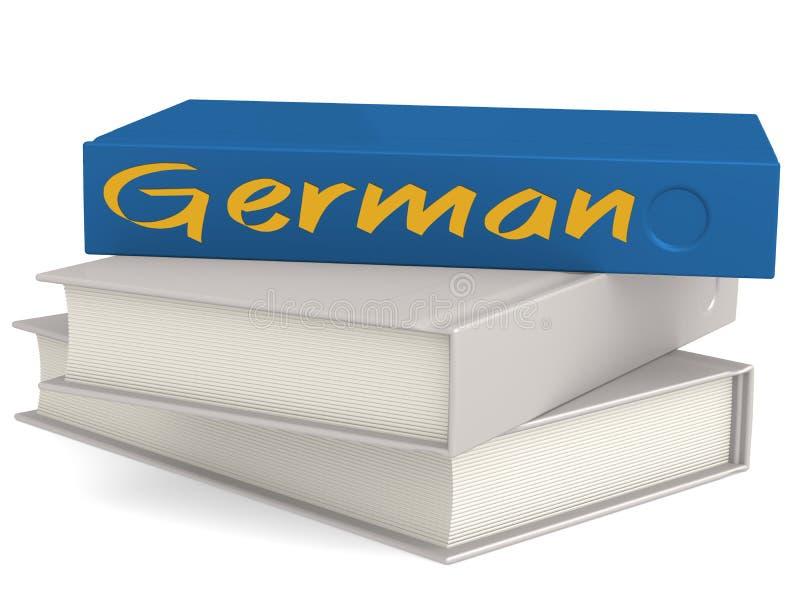 Libros duros de la cubierta con palabra alemana stock de ilustración