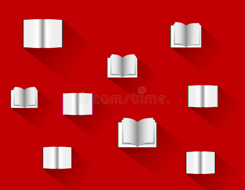 Libros en el diseño plano, ejemplo del vector ilustración del vector
