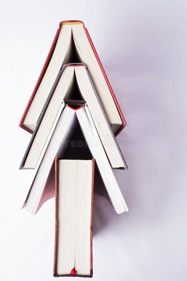 Libros en el fondo blanco fotos de archivo libres de regalías